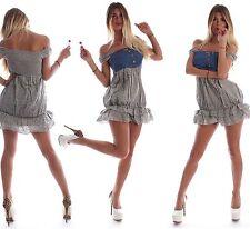 Kurze geblümte Damenkleider mit Off-Shoulder