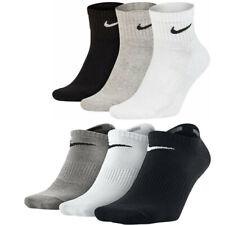 NIKE Socks 3-6 Pairs Mens Womens Quarter Ankle Cotton Trainer Sports Socks Lot