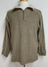 Kuhl Mens sz L Brown 1/4 Zip Alfpaca Long Sleeve Pullover Fleece Sweater