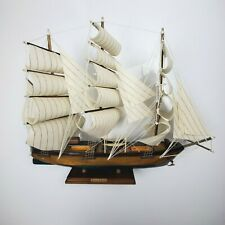 Vintage Young America Clipper Ship Model Wooden Rare Handmade in Spain