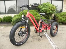 Fat tire electric tricycle, trike, moped scooter with big tires, lithium