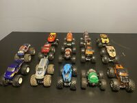 Lot Of 14 Hot Wheels Monster Jams/ Marvel 1:64 Diecast Monster Trucks