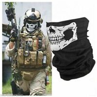 Black Skull Half Face Bandana Skeleton Ski Motorcycle Biker Paintball Mask Scarf