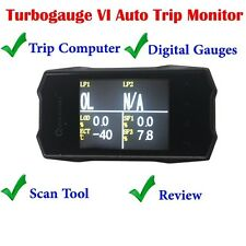 "QUICKLYNKS TG6 TurboGauge VI 2.8"" Color Screen Auto Trip Monitor OBD2 Scanner"