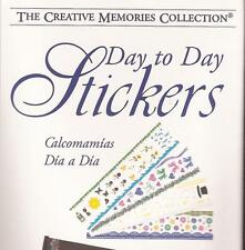 CREATIVE MEMORIES Day to Day Scrapbooking Stickers Flowers Riboons Bows Buttons