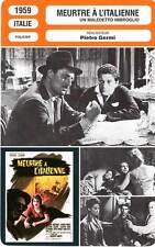 FICHE CINEMA : MEURTRE A L'ITALIENNE - Germi,Cardinale 1959 The Facts of Murder