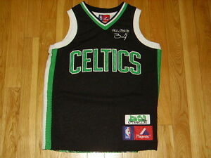 VINTAGE MAJESTIC PAUL PIERCE BOSTON CELTICS PICTURE IMAGE NBA YOUTH JERSEY SM 8