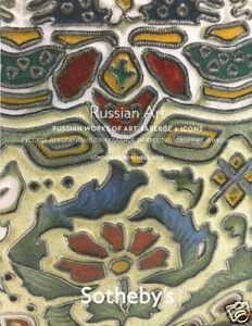 Sotheby's Catalogue Russian WOA & Fabergé & Icons 2008  HB