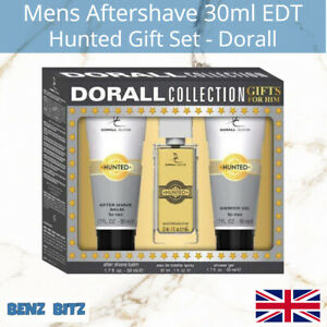 Hunted Gift Set Mens Aftershave By Dorall 30ml EDT Eau De Toilette Spray