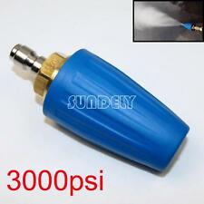 "3000PSI/207BAR Pressure Washer Blue Rotating Turbo Nozzle With 1/4"" Quick Plug"