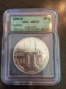 1984-S Olympics ICG MS70 Commemorative $1 Silver Dollar - ONLY 51 EXIST!!!