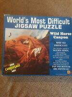 Buffalo Games Worlds Most Difficult Jigsaw Puzzle 529 Pieces Wild Horse Canyon
