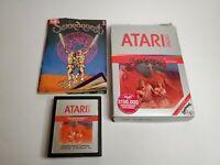 Atari 2600 Swordquest EarthWorld Cartridge Box Manual