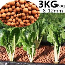 3KG Hydroponic Expanded Clay Balls 8-12mm Pebbles Pellets Plant Growing Medium