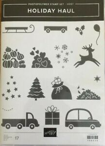 HOLIDAY HAUL retired STAMPIN UP stamp set PHOTOPOLYMER