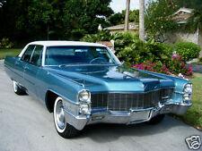 1965 Cadillac SEDAN DEVILLE, Blue/White, Refrigerator Magnet, 40 MIL