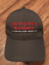 Area Vinyl Siding Dist. Trucker Hat Baseball Cap Plant Construction Gray Pro Via