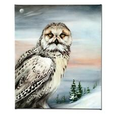 """Martin Katon """"Snow Owl in Alaska"""" Signed Limited Edition Giclee on Canvas"""