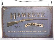 OLD AMMUNITION PLAQUE - HAWKEYE FIREARMS SINCE 1902 - FREE SHIPPING