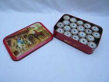 More details for vintage riley brothers halifax toffee tin &20 dewhurst sylko wooden cotton reels