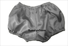 Grey Satin Pants Pantaloons India Maid Sissy Adult Baby Fits With Underwear NEW