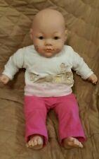 "Citi Toy Girl Baby Doll Blue Eyes 23"" Soft Cloth Body Chubby Cuddly 2001 Cititoy"