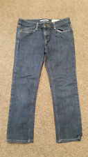 WOMENS juniors 28/6 GAP JEANS cropped  LIMITED EDITION dark wash DENIM EUC