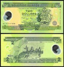 SOLOMON ISLANDS 2 DOLLARS 2001 COMM. POLYMER P23 UNC