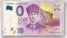 0 Euro Souvenir - 19 Mayis 1919 - Samsun- 0 Euro banknote - TUAG
