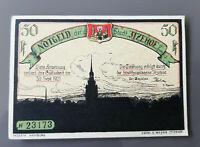 ITZEHOE NOTGELD 50 PFENNIG 1921 NOTGELDSCHEIN (10265)