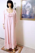 CLAIRE SANDRA by LUCIE ANN vintage PINK CHAMPAGNE PEIGNOIR SET size M medium