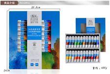 Winsor & Newton 24 Colors Artist Fine Transparent Watercolor Paint Set