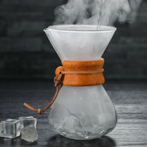 Pour Over Coffee Maker With Stainless Steel Filter Chemex Household*AUS