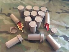 15 Australian Army Ration Pack Bottles Of Survival Matches. Waterproof Auscam Do