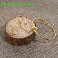 """boucles d'oreilles un bracelet de larme bijoux ensemble ouvrir le bracelet. """""""