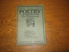 1927 Poetry Kenneth Fearing, Ezra Pound, Louis Ginsberg, Conrad Aiken, Others