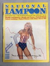 VINTAGE NATIONAL LAMPOON MAGAZINE 1982 Nov. SPORTS ISSUE - Ships Free & Fast