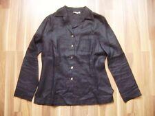 @xandres@ maniche lunghe camicetta schwarz 100% LINO TAGLIA XL gr. 42 GB 16 US