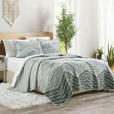 Reversible Quilt Coverlet Set 3Pcs Lightweight Bedspread with Two Shams King Us