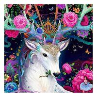 DIY Full Drill 5D Colorful Deer Diamond Painting Art Wall Decor Cross Stitch Kit