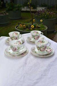 Royal Doulton - Set of 4 Trios Apple Blossom H4899 - Very Beautiful