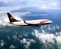 ALOHA AIRLINES BOEING 737-300 CLASSIC IN FLIGHT 8x10 SILVER HALIDE PHOTO PRINT