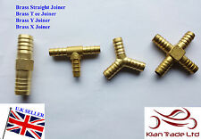 Brass Straight X Y Tee Barbed Hose Joiner connectors compressed AIR GAS OIL  LPG