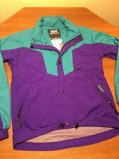 Helly Hansen Silmond Rain Wear Jacket Coat Mens S Teal Purple Vented Arm