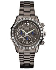 New Authentic GUESS Men Black Stainless Steel  Multifunction Watch U0016L3 NWT