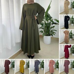 Women Abaya Jilbab Kaftan Muslim Dubai Style Ladies Cardigan Robe Long Maxi
