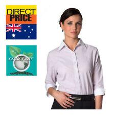 Cotton Blend Career Striped Tops & Blouses for Women