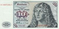 Germany 1960 10 Marks Banknote Federal Republic Pick 14 UNC Sailing Ship Note