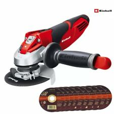 Einhell 115mm 600W Angle Grinder 230V TE-AG 115/600 Plus 10 Metal Cutting Discs