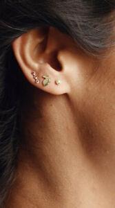 Ariel Gordon 14k yellow gold menagerie stud earrings $395 Rabbit